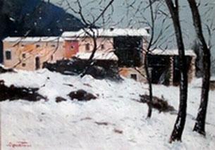 Rossetto luigi pittore post impressionista acquerelli olii for 30x40 planimetrie della casa